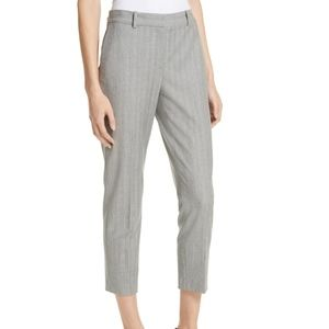 Nordstrom Signature Grey Herringbone Ankle Pants